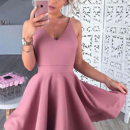 Homecoming Dresses Blush Sleeveless..