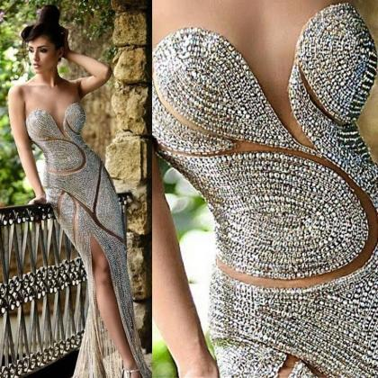 Luxury Mermaid Evening Dresses Jewe..