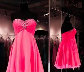Charming Homecoming Dress Chiffon Homecoming Dress Sweetheart Homecoming Dress Beading Homecoming Dress