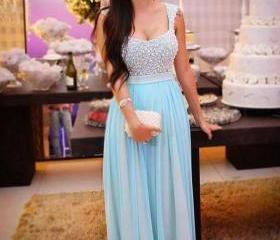 Pretty Blue Prom Dresses Sequins Prom Dress Formal Dress Bridal Dress Formal Gown Celebrate Dresses Special Occasion Dresses