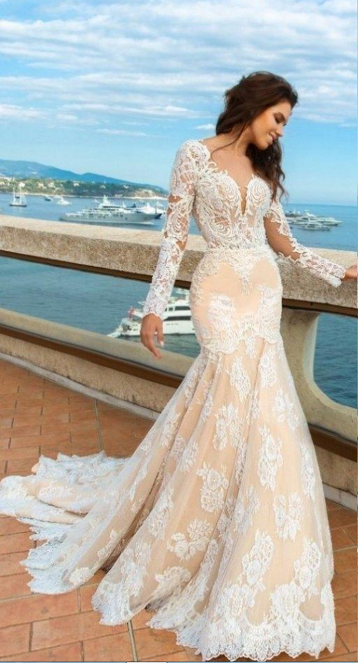Mermaid Wedding Dress,custom Lace Wedding Dresses
