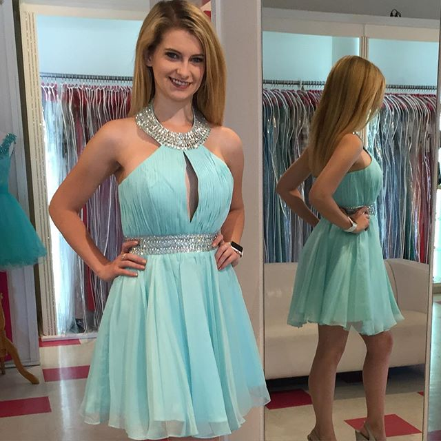 Homecoming Dresses,Junior Homecoming Dresses,Halter Homecoming ...