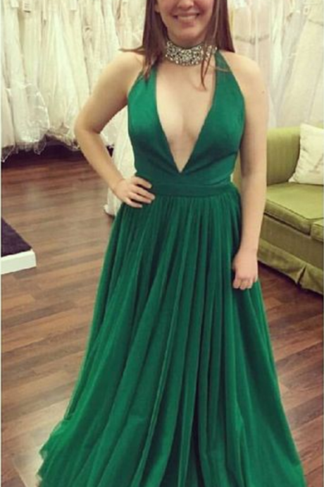 Green Prom Dresses,Chiffon Evening Gowns,Prom Dresses,New Fashion Evening Gown,Cheap Evening Dress,Evening Gowns