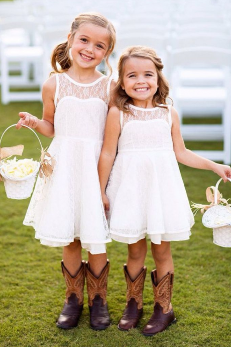 Lace Flower Girl Dress Love the flower girls in for wedding Baby Girl Dress Lace Flower Girl Dress Toddler Girl Dress Backless Flower Girl Dress White Flower Girl Dress,