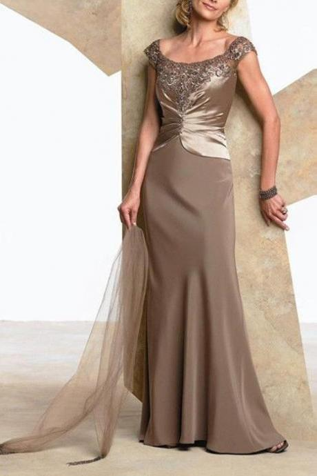 Mother Of The Bride Dress Lady Formal Gown Evening Dress Custom Made Size