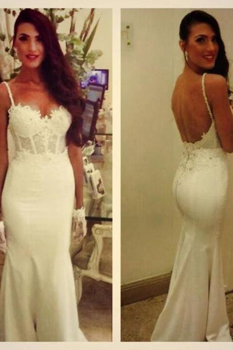 White Prom Dresses,Mermaid Prom Dress,Lace Prom Dress,Open Back Prom Dress,Backless Prom Dress,Evening Gowns,Modest Party Dress,Elegant Prom Dresses,Formal Gowns For Teens