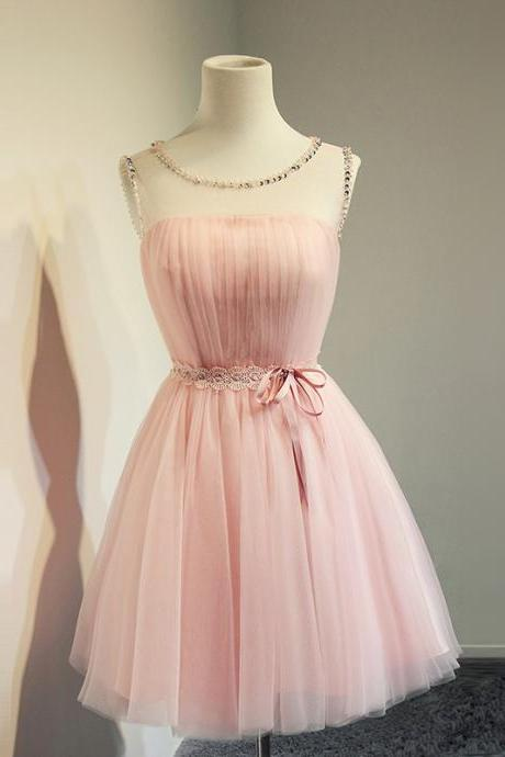 Short Homecoming Dress,Tulle Homecoming Dress,Pink Homecoming Dress,Simple Homecoming Dress,Cute Homecoming Dress,Popular Cheap Homecoming Dress,Homecoming Dress
