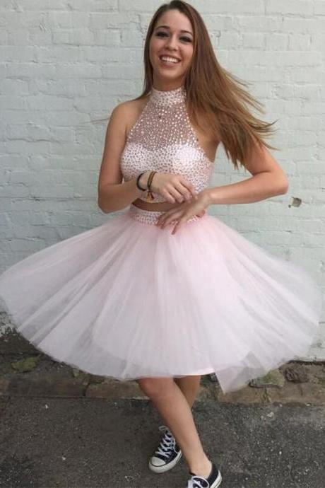 Homecoming Dresses, 2 pieces homecoming dress, Sexy beaded homecoming dress, short homecoming dresses, 2016 homecoming dress, short prom dresses, homecoming dress