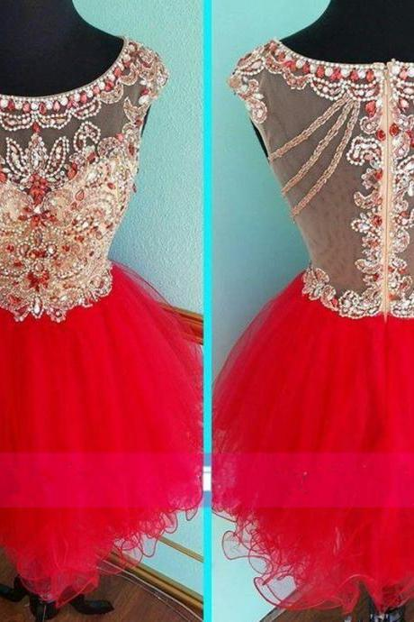 Homecoming Dresses, Hot Pink Beaded homecoming dress, Sexy homecoming dress, short homecoming dresses, 2016 homecoming dress, short prom dresses, homecoming dresses