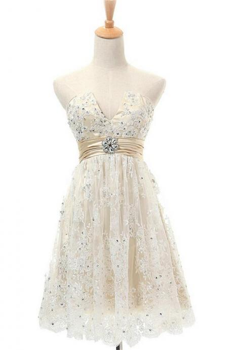 Lace Homecoming Dresses,V-neck Homecoming DressesmZipped Back Homecoming Dresses,Pretty Homecoming Dresses