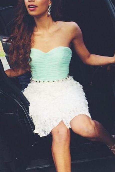 Homecoming Dresses,Cute Homecoming Dress, Lace Homecoming Dress,Short Prom Dress, Sweet 16 Dress