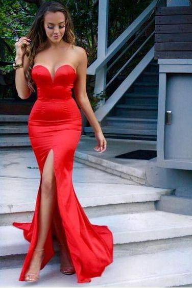 Sexy Prom Dresses,Red Prom Dress,Evening Gown,Long Formal Dress,Prom Gowns