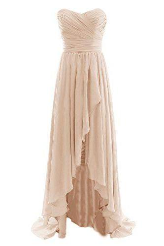 Evening Dresses, Prom Dresses,Champagne Prom Dresses,Charming Evening Dress,Champagne Prom Gowns,Champagne Prom Dresses,New Prom Gowns,Champagne Evening Gown,High Low Party Dresses