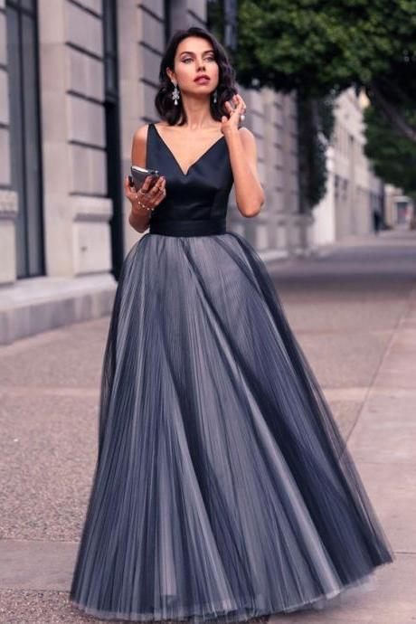 Evening Dresses, Prom Dresses,Party Dresses,Prom Dresses,Navy BlueProm Dresses,Prom Dress,Sexy Prom Dress,Dark Navy Prom Dresses,Formal Gown,Tulle Evening Gowns,Party Dress,Prom Gown For Teens