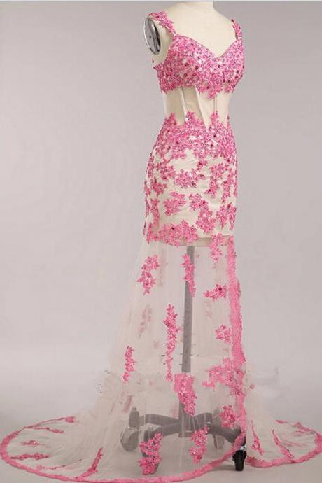 Evening Dresses, Prom Dresses,Party Dresses,Prom Dress, Prom Dresses, Prom Dresses,Prom Dress,Floor Length Prom Dresses,Tulle Prom dresses,Pink Prom Dresses,V Neck Prom Dress, Sexy Prom Dress, Long Prom Dresses,2016 Prom Dresses,Pink Evening Dresses