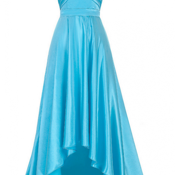 Shining Satin Prom Dresses Sweetheart Neck Pleat Women party Dresses