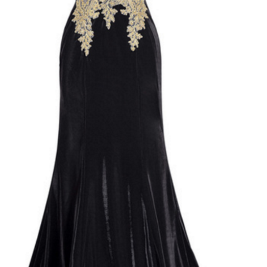 Elegant carlin's elegant evening dress, a long gown of PROM dress, a black mermaid evening gown, elegant sleeveless dress, formal ball gown
