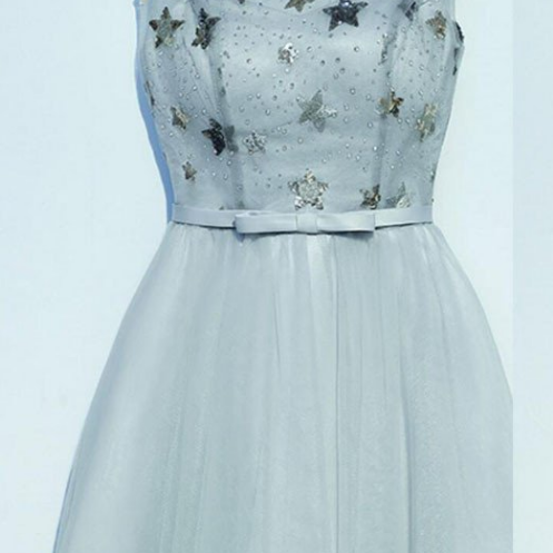 New Arrival Pretty Beading Applique Lace Up Back Homecoming dresses,