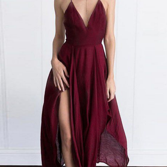 Homecoming Dresses Same as the picture Sleeveless Chiffon Criss-Cross Straps Pick-ups Hi-Lo V Neck A-Line/Column