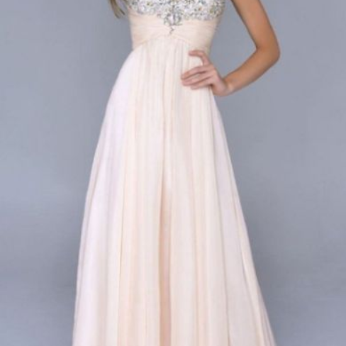 Beaded/Beading Prom Dresses, Champagne A-line/Princess Prom Dresses, Long Champagne Prom Dresses, Modest Spaghetti Straps Backless Beaded Prom Dresses