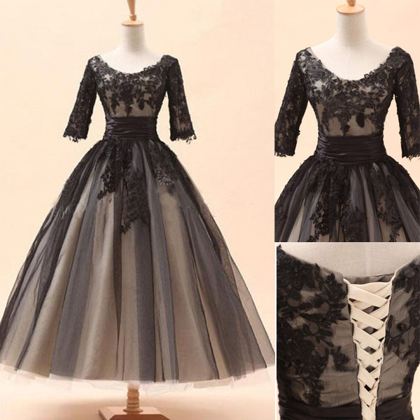 One shoulder bridesmaid gown pretty prom dresses chiffon for Black and grey wedding dress